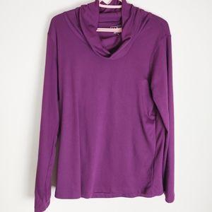 LL Bean Soft Purple Funnel neck long sleeve XL